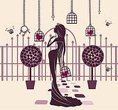 Princess in a magical garden
