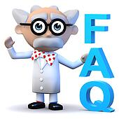 3d Mad scientist has a FAQ