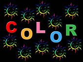 Colorful Joy Indicates Positive Joyful And Multicoloured