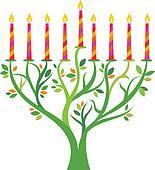 Hanukkah menorah tree