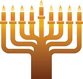 Colden Hanukkah menorah