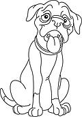 Outlined boxer