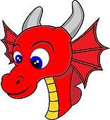 Cute Dragon Head