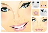 Facials of a girl