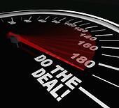 Do the Deal Close Sale Finalize Contract Speedometer