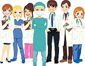 Group Of Doctors Clipart Hospital Medical Team