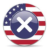 cancel american icon