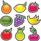 Colorful Glossy Fruits