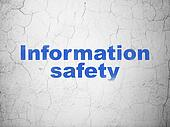 Safety concept: Information Safety on wall background