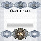 Elegant certificate design in vintage style