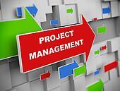 3d moving arrow - project management