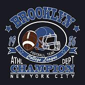 Sport Typography Brooklyn Football