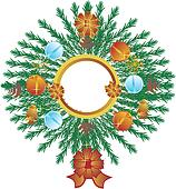 Isolated Xmas Wreath