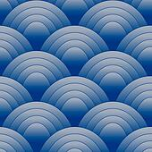 Seamles Oval Pattern Blue