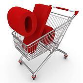 3d shopping push cart