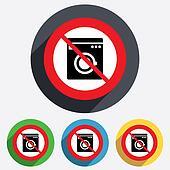 Do not wash. Washing machine icon.