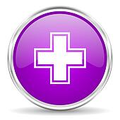 pharmacy pink glossy icon
