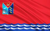 Flag of Magadan Oblast, Russian Federation