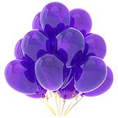 Purple party helium balloons
