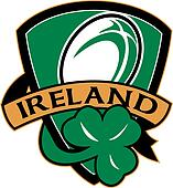 rugby ball ireland shield shamrock
