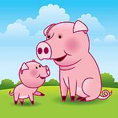 Pig, Piglet Vector