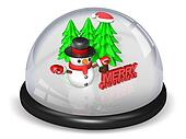 peaceful 3d christmas snowball