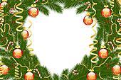 Christmas fir tree frame