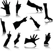 hand vector silhouetes