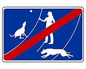 Traffic sign for dogs