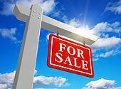 'For sale' real estate sign
