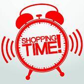 Shopping time alarm clock, vector i