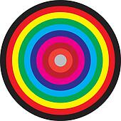 Target concentric circles of colors