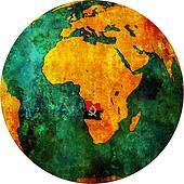 Angola territory and flag