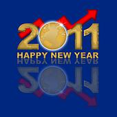 Happy New Year 2011 Financial Gold Market