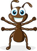 cute little brown ant