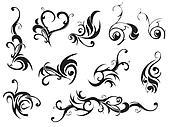 Set Of Classic Decoration Elements. Vector