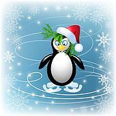 Amusing penguin skates