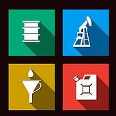 fuel set icons illustration