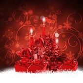 Abstract background with a New Year's gifts