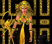 Egyptian Woman Pharaoh with panther