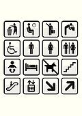 Set of international signs.
