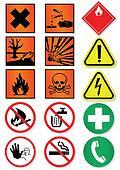 Set of international sign.