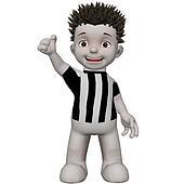 Boris football supporter cheering for his team