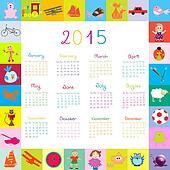 2015 Calendar frame with toys