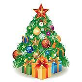 christmas tree and gift box