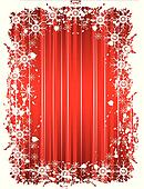 A grunge christmas frame with snowflakes
