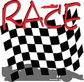 racing checkered illustration