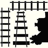 railroad train illustration