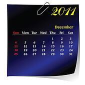 reminder calendar for December 2011