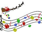 Musical Christmas background